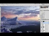 Снежный мэт пейтинг по рисованию горного пейзажа в Photoshop. Урок 3