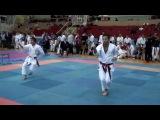 Male Kata Heian Yondan 1st nround Rustam Zaynagov Kazan vs SergeyVatagin Moscow